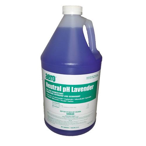 Aero Neutral pH Lavender One-Step Disinfectant Germicidal Detergent and Deodorant 1 Gallon
