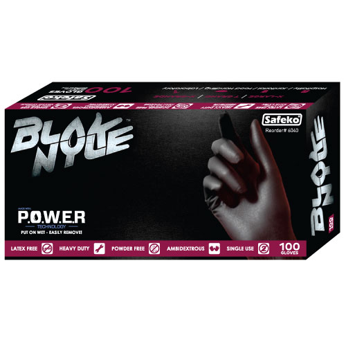 Blak Nyle Gloves, 5 Mil - Black, Small 100 - Box
