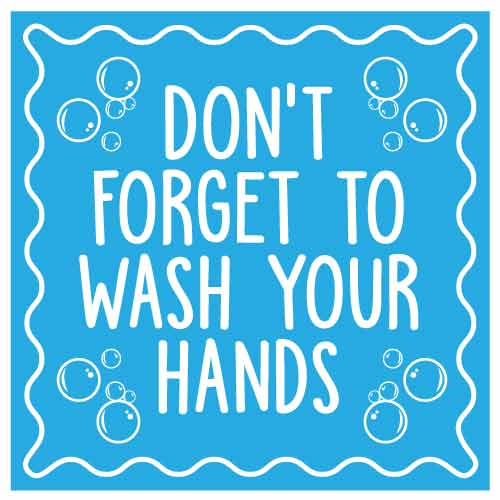 COVID School Sign Don't Forget To Wash Your Hands