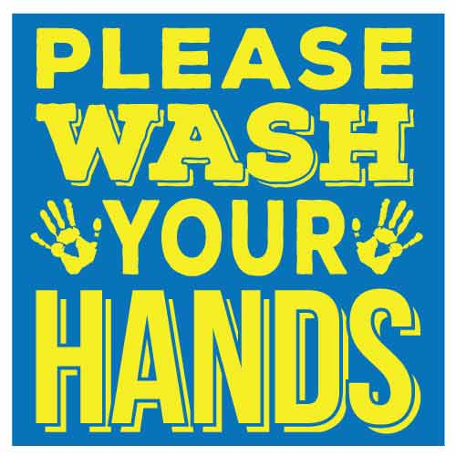 COVID School Sign Please Wash Your Hands