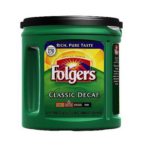 Folgers Decaffeinated Classic Roast 33.9 Oz