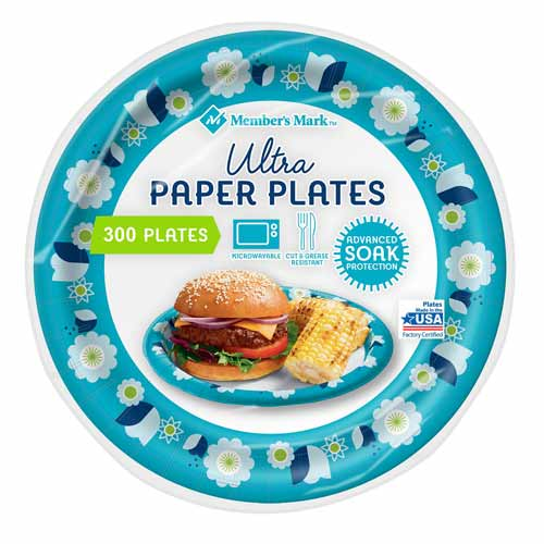 Member's Mark Ultra Heavyweight Paper Plates Pack of 300