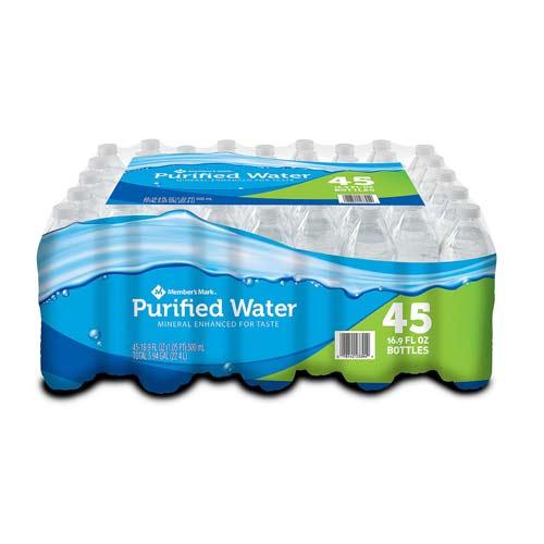 Member's Mark Purified Bottled Water (16.9 oz./ 45 pk.)
