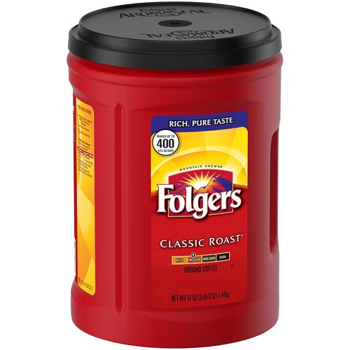 Folgers Canister Classic Roast Coffee 51 Oz Canister